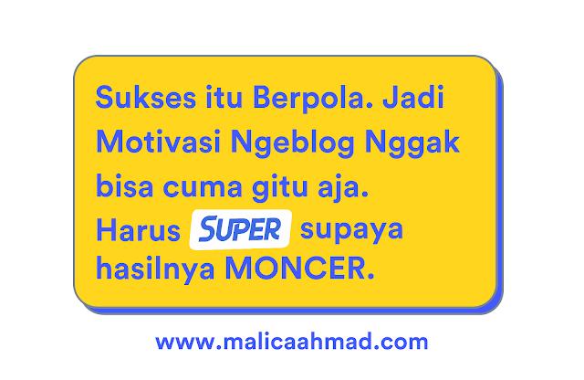 Motivasi ngeblog