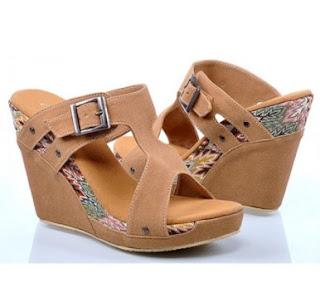 Harga Sepatu Wedges Wanita Terbaru Model Sandal Nunung Ovj