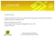 Convite para reabertura da agência do Banco do Brasil em Ipubi