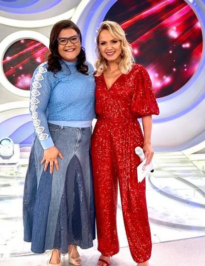 +Midian Lima grava especial de Natal no Programa da Eliana
