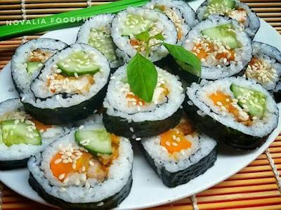 cara membuat sushi rumahan yang enak