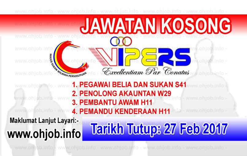 Jawatan Kerja Kosong WIPERS - Majlis Sukan Wilayah Persekutuan logo www.ohjob.info februari 2017