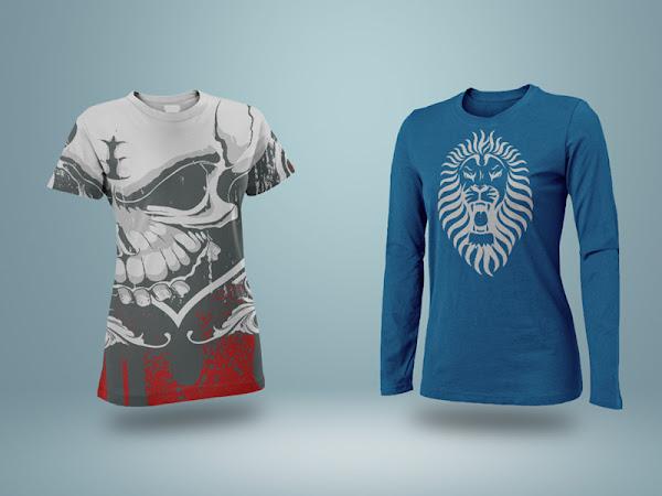 Download Realistic T-Shirt Mockup PSD Free