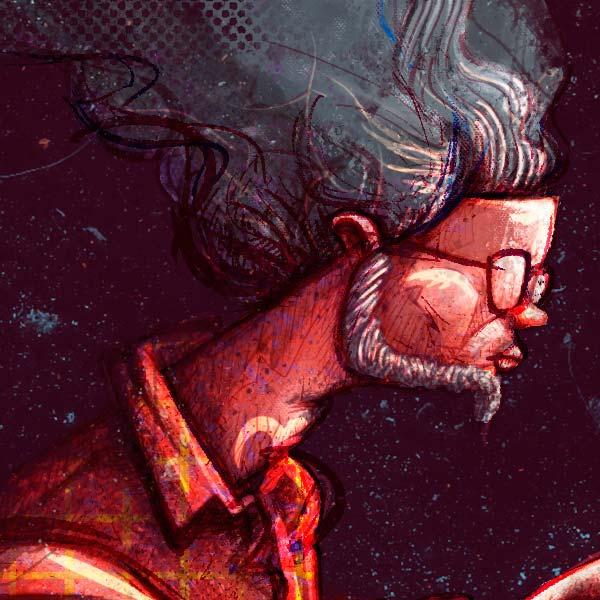 Ilustración y diseño de poster sobre los escritores en cuarentena, creada por Hache Holguín.