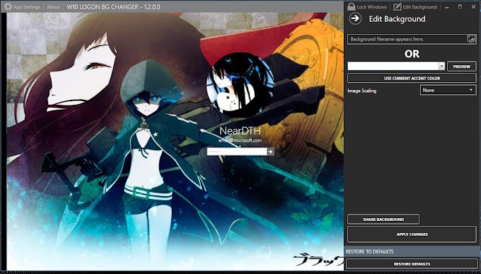 Cara mengganti Loggon Background Windows 10 ALL Version [DOWNLOAD]