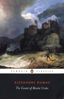 Count of Monte Cristo book cover (a watercolor painting of a castle on a hill under an ominous cloudy sky)