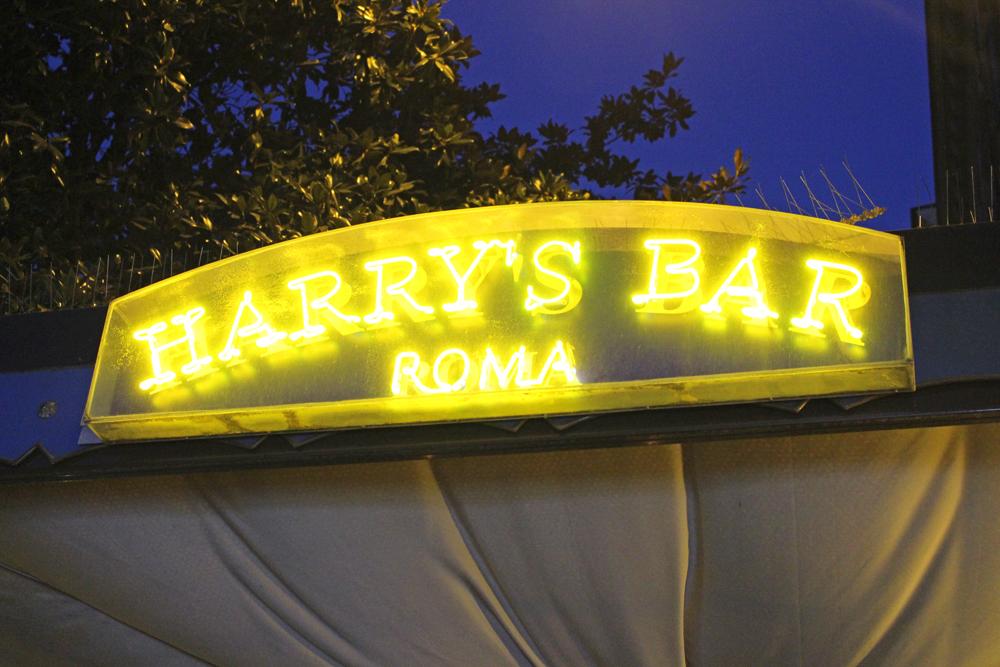 Dinner at Harry's Bar, Rome - style & travel blog
