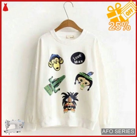 AFO627 Model Fashion Sweater Love Mix Modis Murah BMGShop