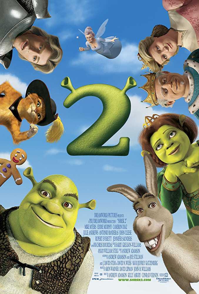 Poster Shrek 2 2004 Full Movie Dual Audio Free Download 300Mb