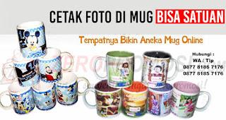 Mug Keramik merupakan salah satu souvenir yang bisa dicetak dengan cepat