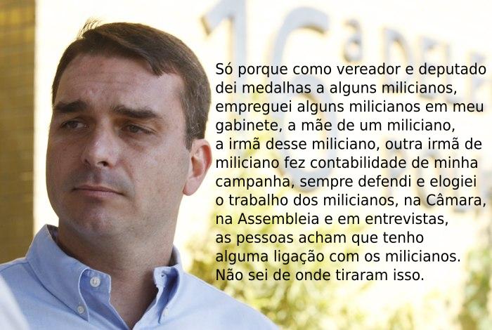 Flávio Bolsonaro e sua ligação com as milícias