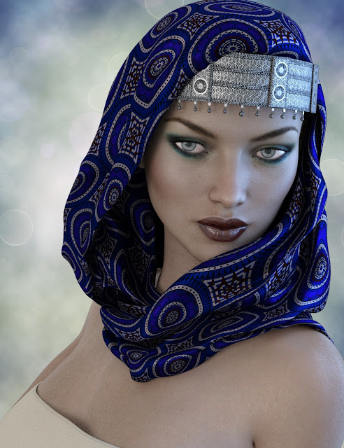 X-Fashion Turban Scarf for Genesis 3 Female