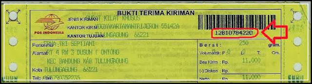 gambar cara cek nomor resi pos Indonesia