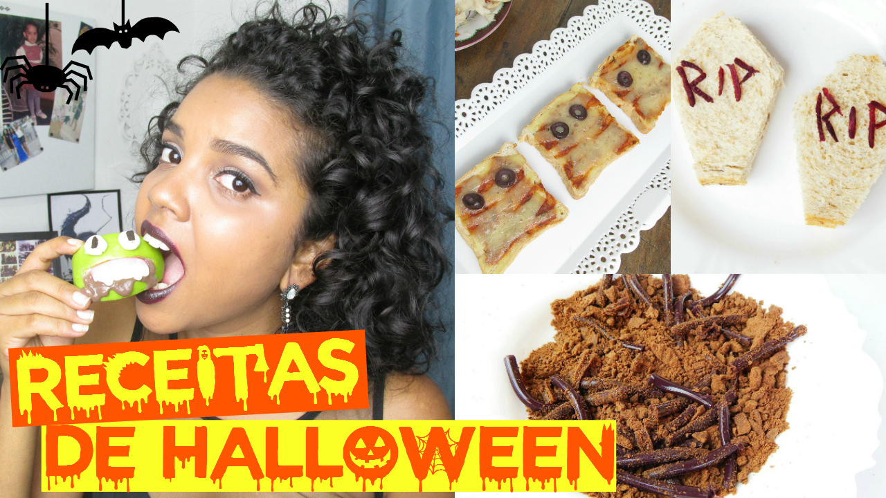 Comidas de Hallowen, receitas de hallowen, natália sena, blogueira de Salvador, blogueira baiana