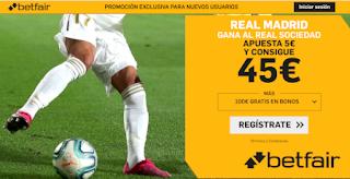 betfair supercuota copa Real Madrid gana Real Sociedad 6 febrero 2020