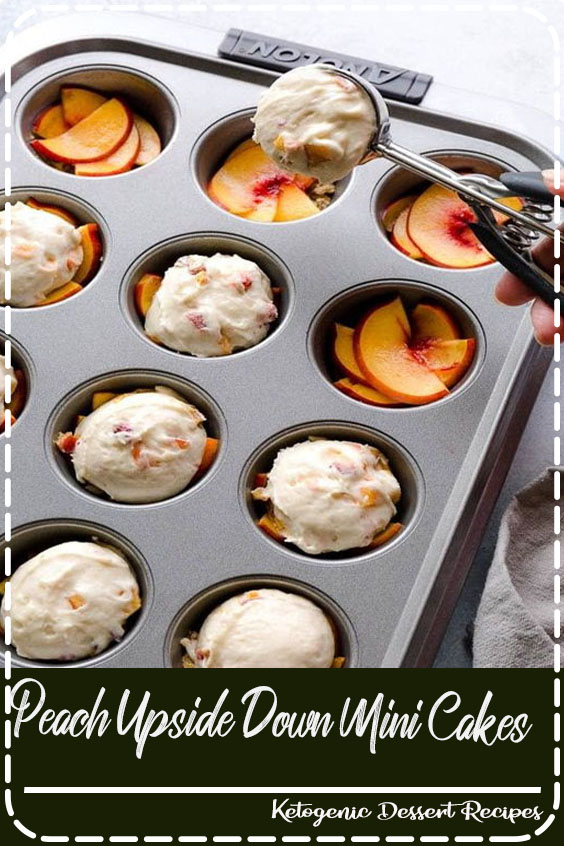 These super moist and tender peach upside down mini cakes are bursting with peaches in every bite. Easy to make, this recipe is a keeper for that indulgent peach season!