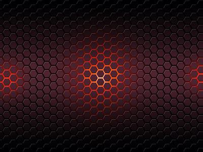 Red hexagonal honeycomb background