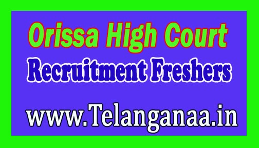 Orissa High Court Recruitment Notification 2016