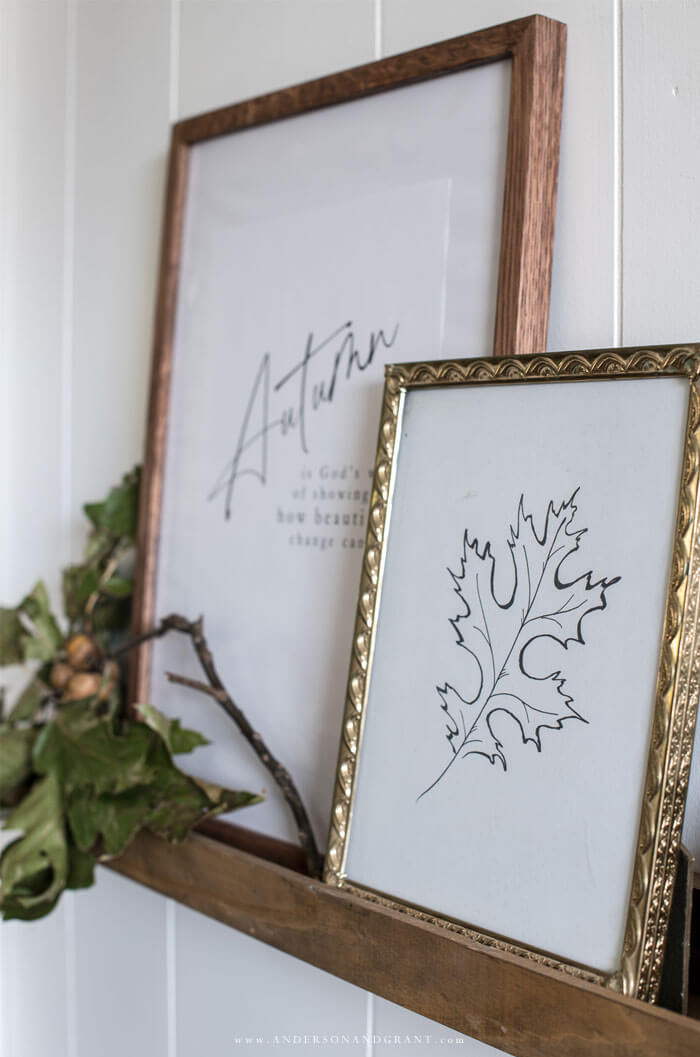 Give your fall decor a minimalist look with these black and white fall prints to frame.