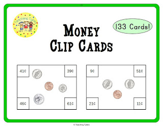 https://www.teacherspayteachers.com/Product/Money-Clip-Cards-910239