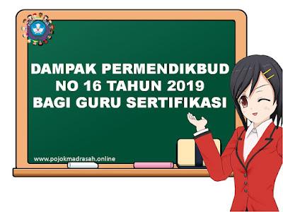 permendikbud no 16 tahun 2019 bagi guru sertifikasi