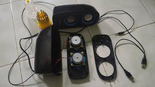 Isi speaker Aktif menggunakan tegangan USB