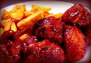 Pechugas de pollo en salsa de barbacoa
