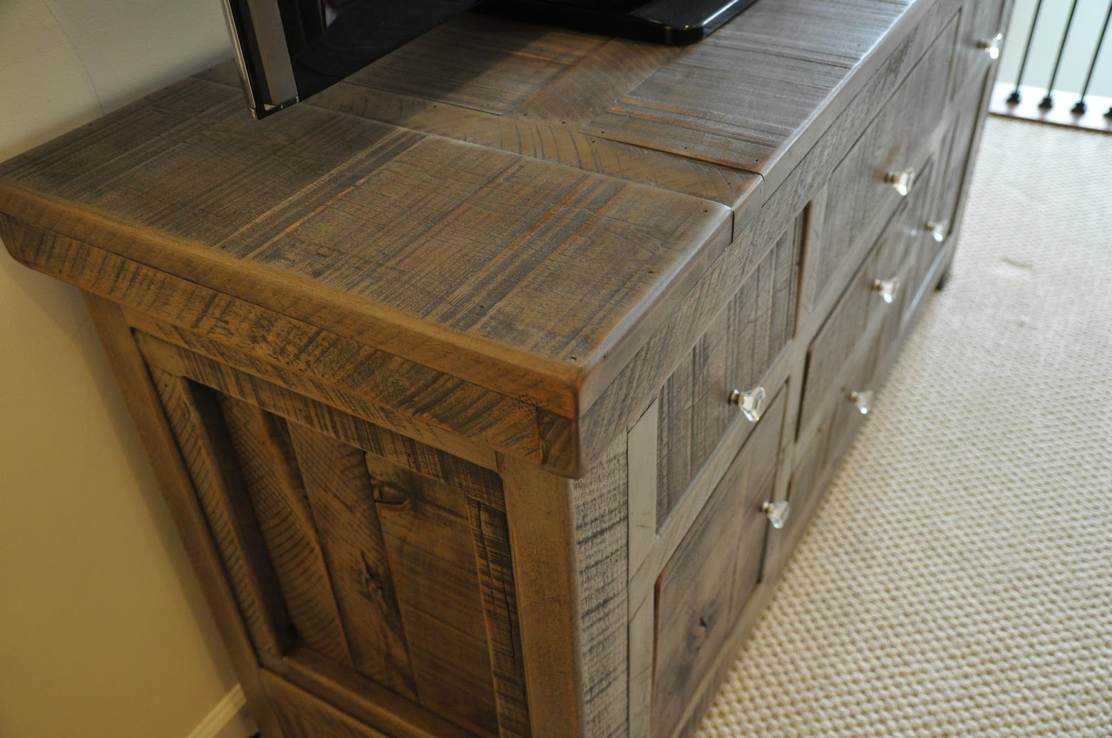 Rustic Gray Sofa Table How To Wash A Fabric Entertainment Console Buffet Tv