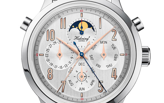 Habring2 Perpetual Doppel Chronograph, the dial