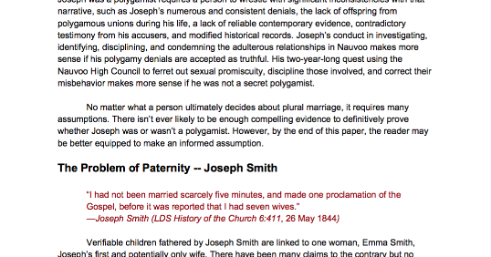 Polygamy research paper thesis