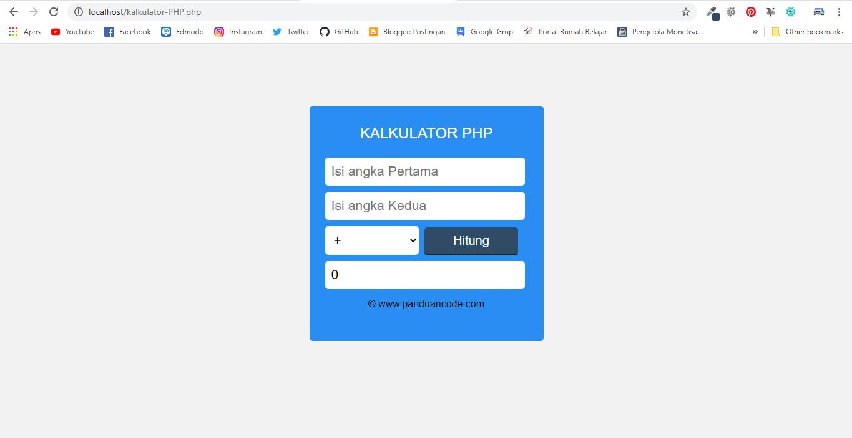 Kalkulator PHP Sederhana
