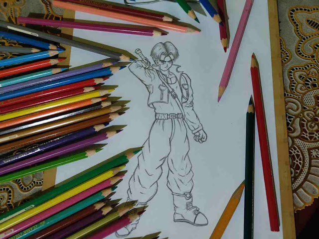 Tutorial Menggambar Trunks Dragon Ball dengan Teknik Titik Hubung