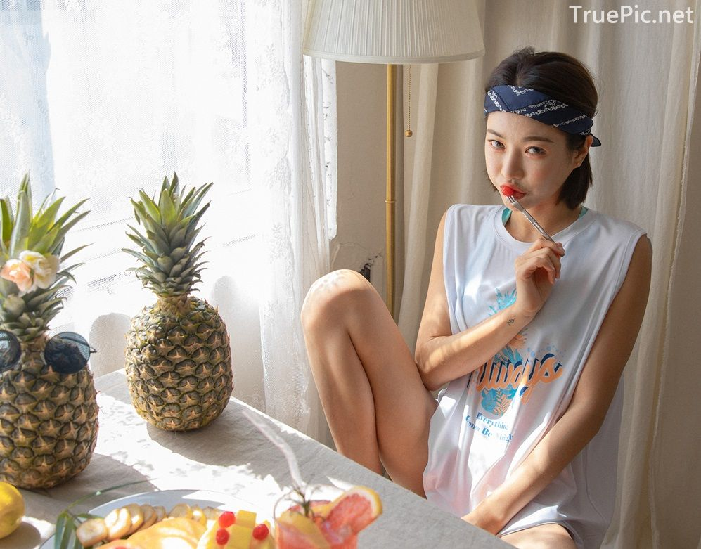 Korean model and fashion - An Seo Rin - Summer personality clothing for young girls - Picture 6