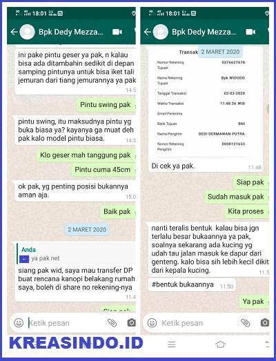 Teralis Besi Pengaman pemasangan di Perum D'marco Cilodong - pesanan ke 2 Bpk Dedy