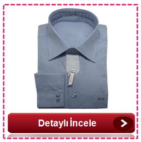 Kişiye Özel Nakışlı Gömlek Özel Üretim - Mavi