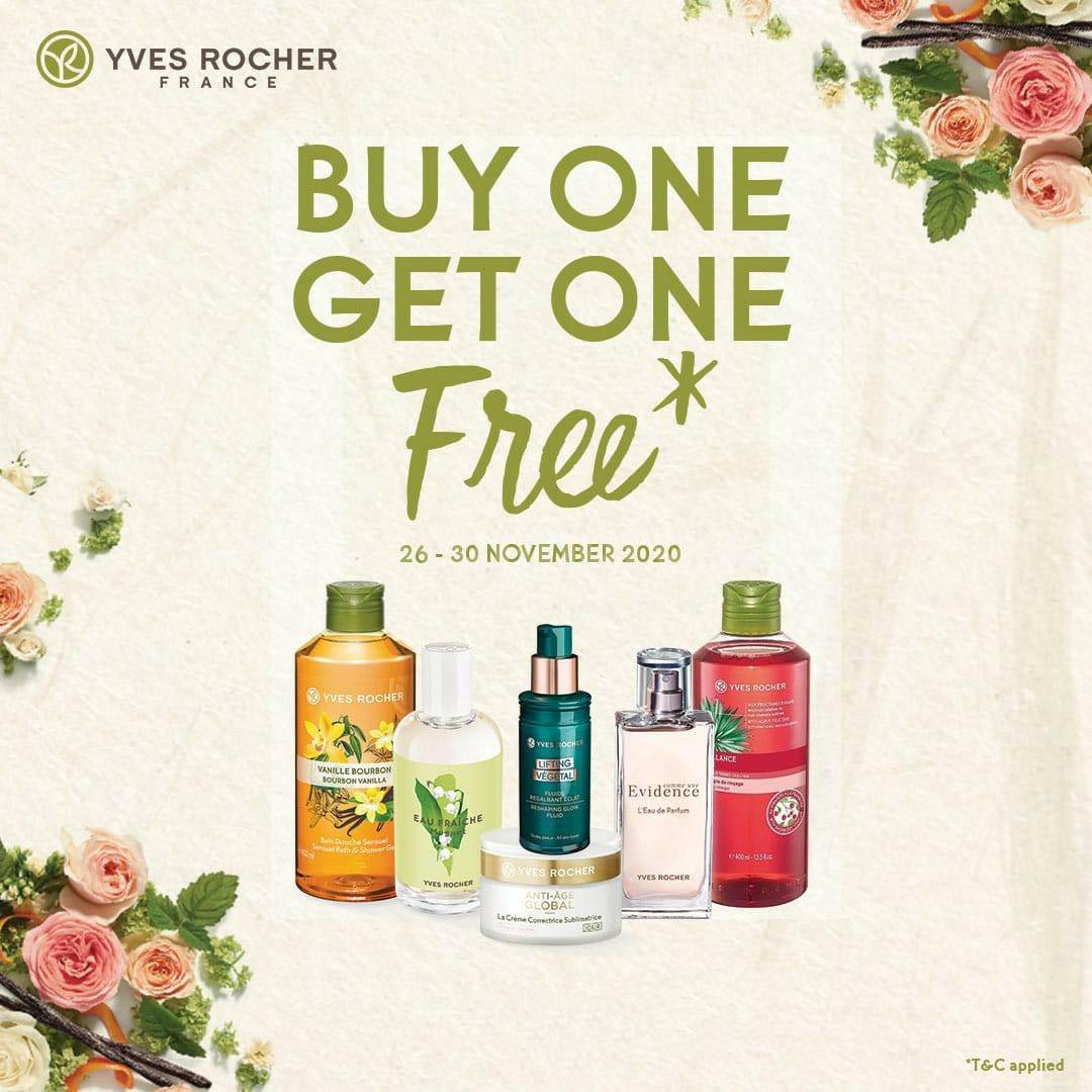 Promo YVES ROCHER France Super Sale Buy 1 Get 1 Free*