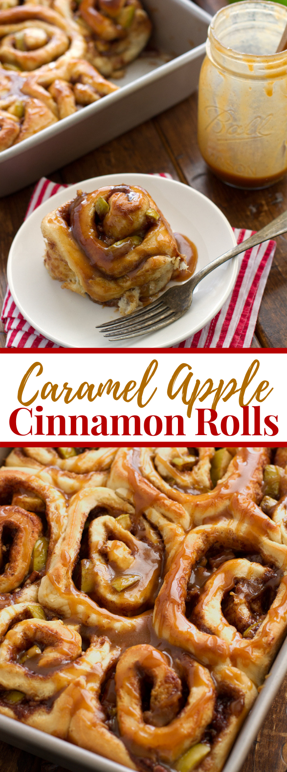CARAMEL APPLE CINNAMON ROLLS #desserts #fall