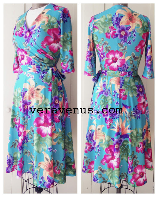 The Vintage Pattern Files: Free 1940's Sewing Pattern - Sweet Spring Wrap Style Dress