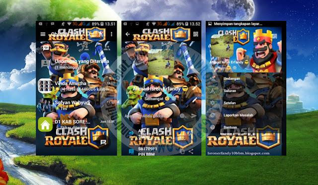 download BBM Mod Clash Royale Background Apk