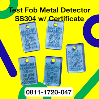 test piece metal detector