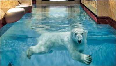 porcelanato liquido 3d com desenho de urso