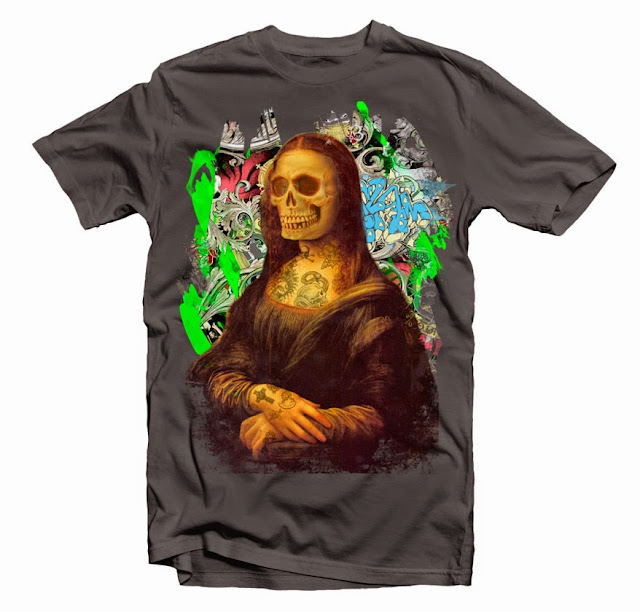 Monalisa Tattoo tshirt design