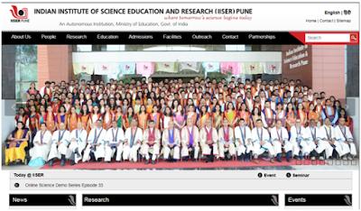 IISER Pune Recruitment 2021Project Associate Apply Now