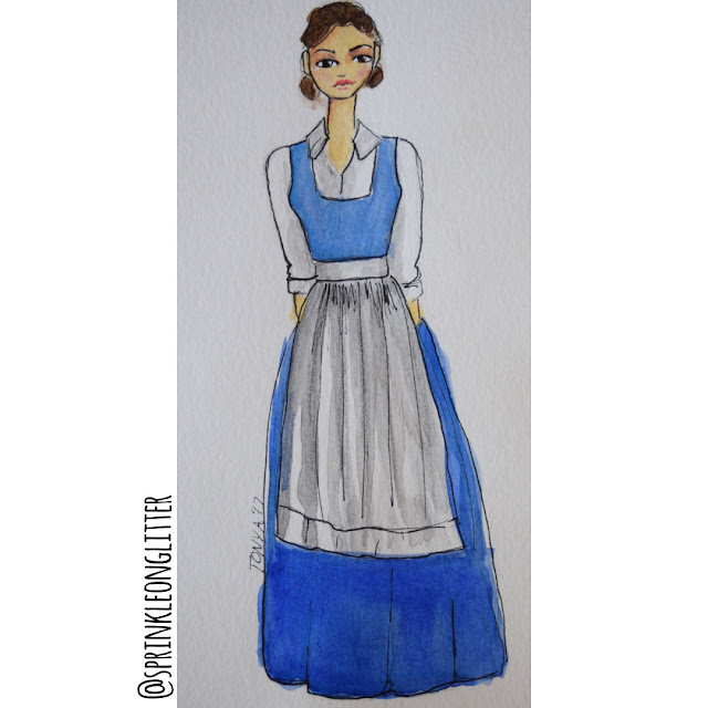 Sprinkle On Glitter Blog// Beauty and the Beast// blue dress