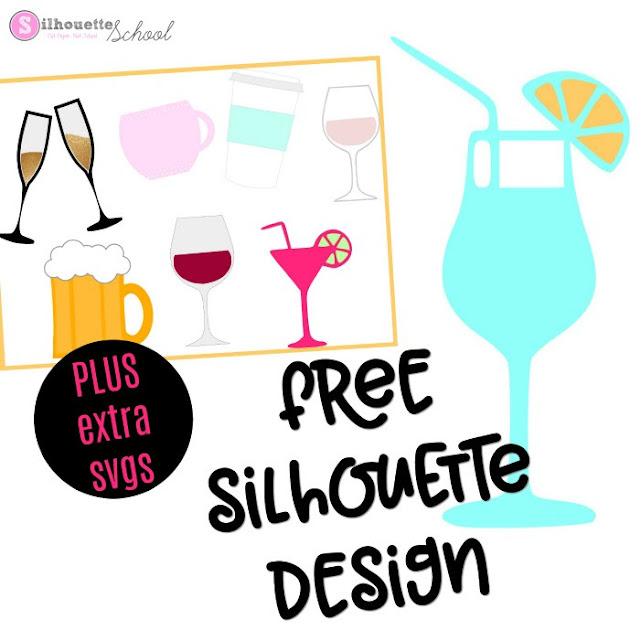 Download Free Silhouette Design: Cocktail (And Free Set of ...