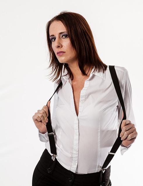 Copyright Y Mujer Con TirantesImagenes Joven Blanca Camisa Sin fgb67y