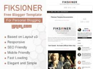 template blog Fiksioner