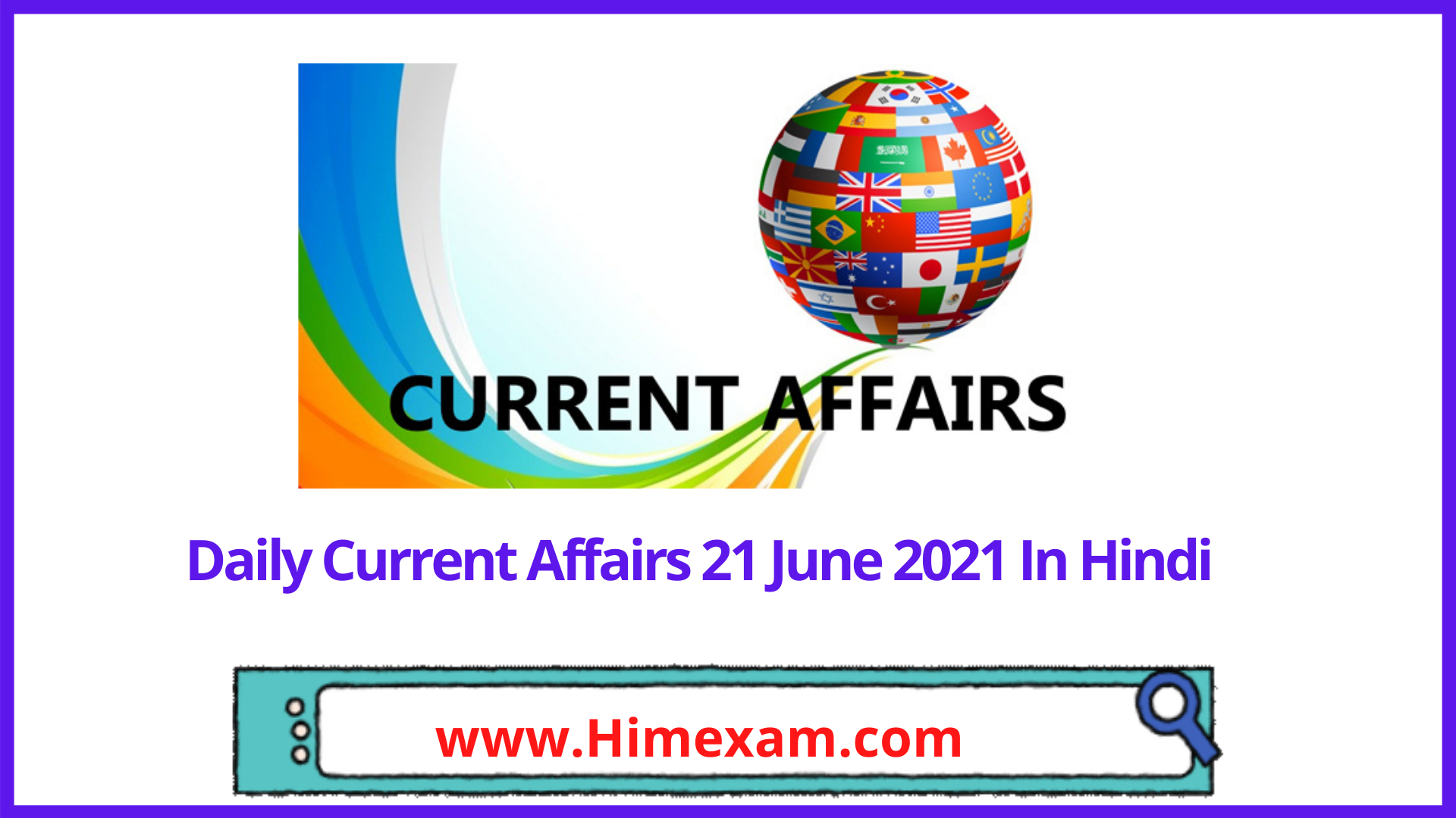Daily Current Affairs 21 June 2021 In Hindi