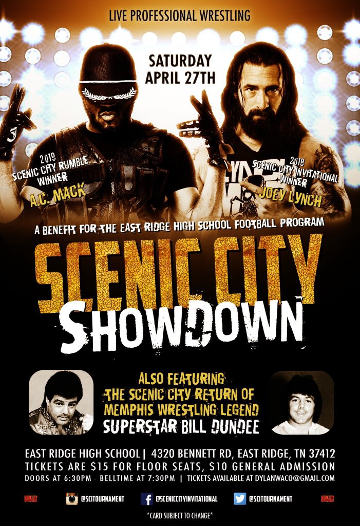 South Atlanta Wrestling: GWH Reviews: ACTION Wrestling 8 And Scenic