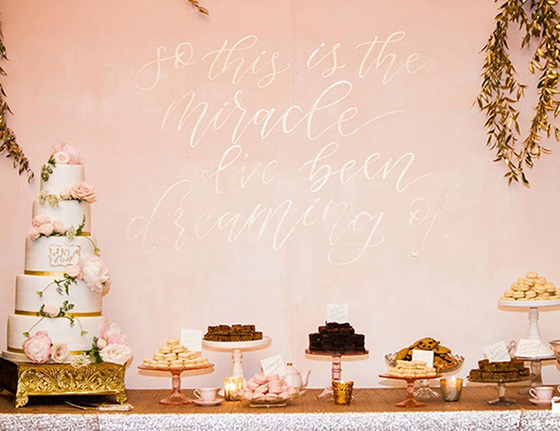 wedding cake backdrop 6 dessert table backdrops with the prettiest calligraphy 21773